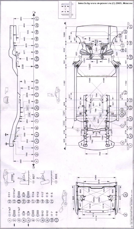 Проверка геометрии кузова бмв е30